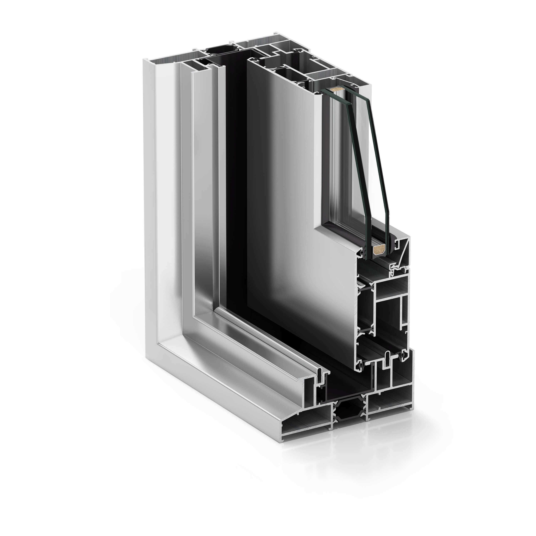 Termoplast - Sectiune sistem aluminiu TRP COR 4500