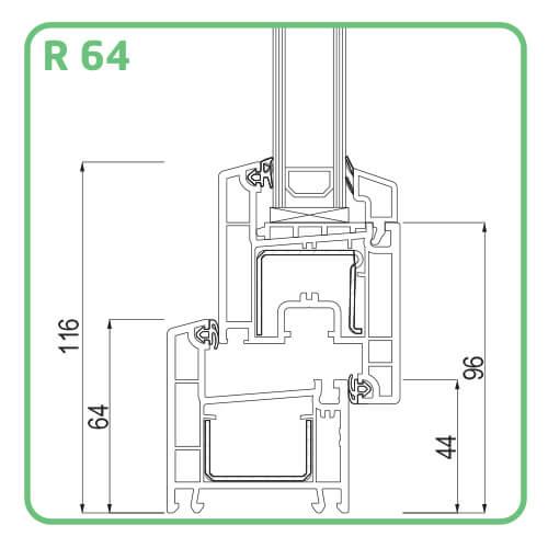 Profil Tamplarie PVC TRP 60 de la Termoplast